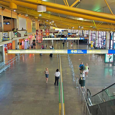 Faro Airport arrivals hall