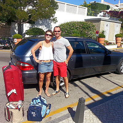 Passengers pick up at Albufeira