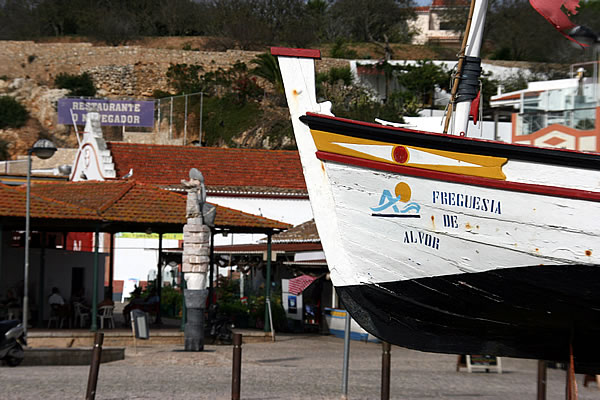 Old fishing boat used by alvor fishermen