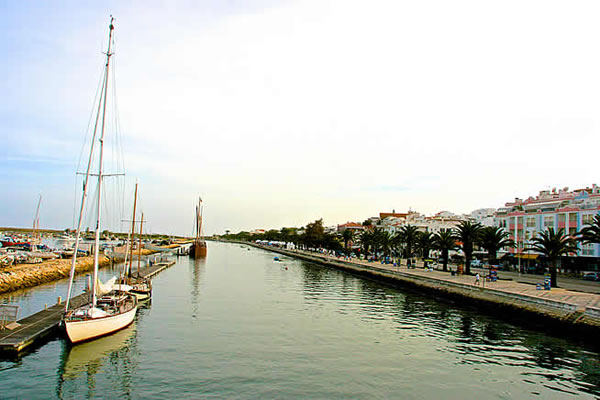 The accesss canal to the Lagos marina