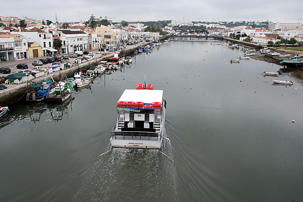 Boat used for public transport to Tavira island