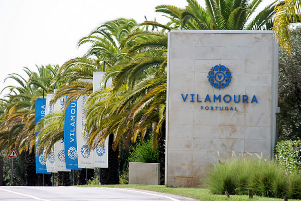 Vilamoura's long avenues flanked with palm trees